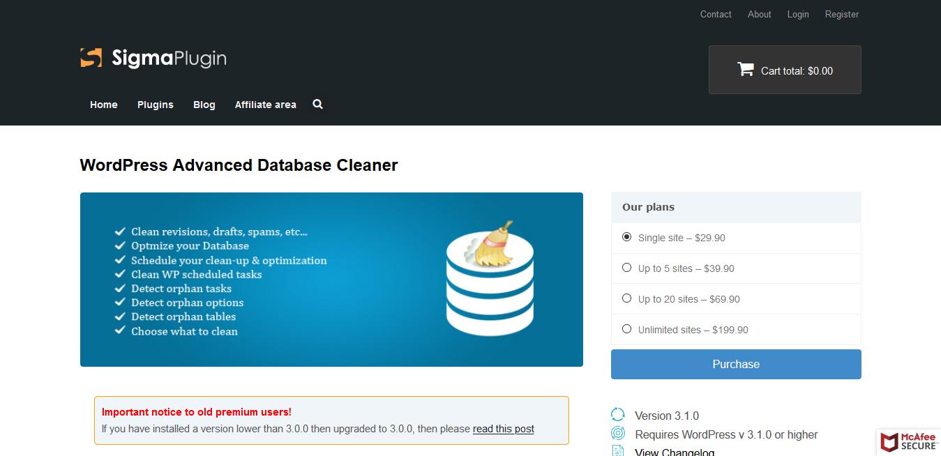 WordPress Advanced Database Cleaner Pro 3.1.6