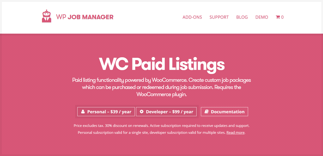 WP Job Manager WC Paid Listings Addon 2.8.3