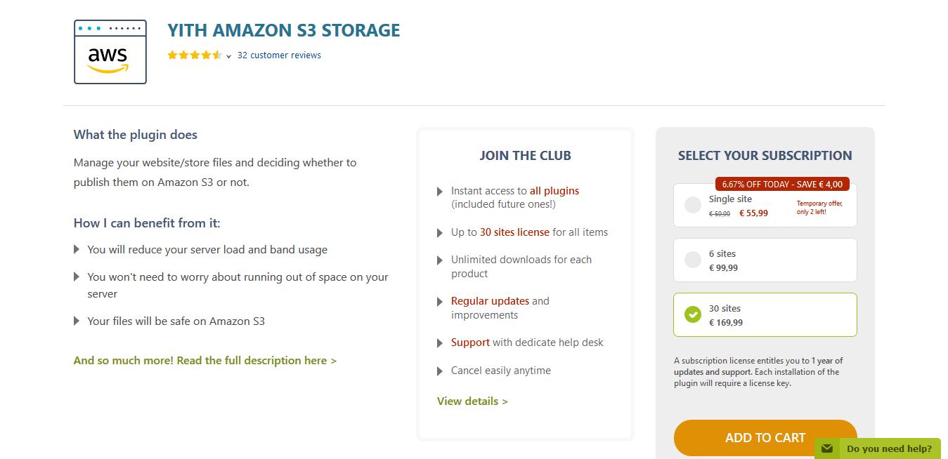 YITH Amazon S3 Storage Premium 1.1.19