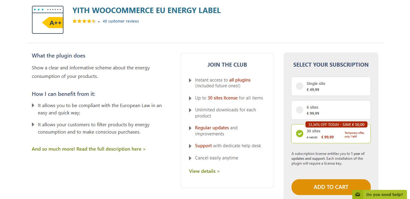 YITH WooCommerce EU Energy Label Premium 1.1.24