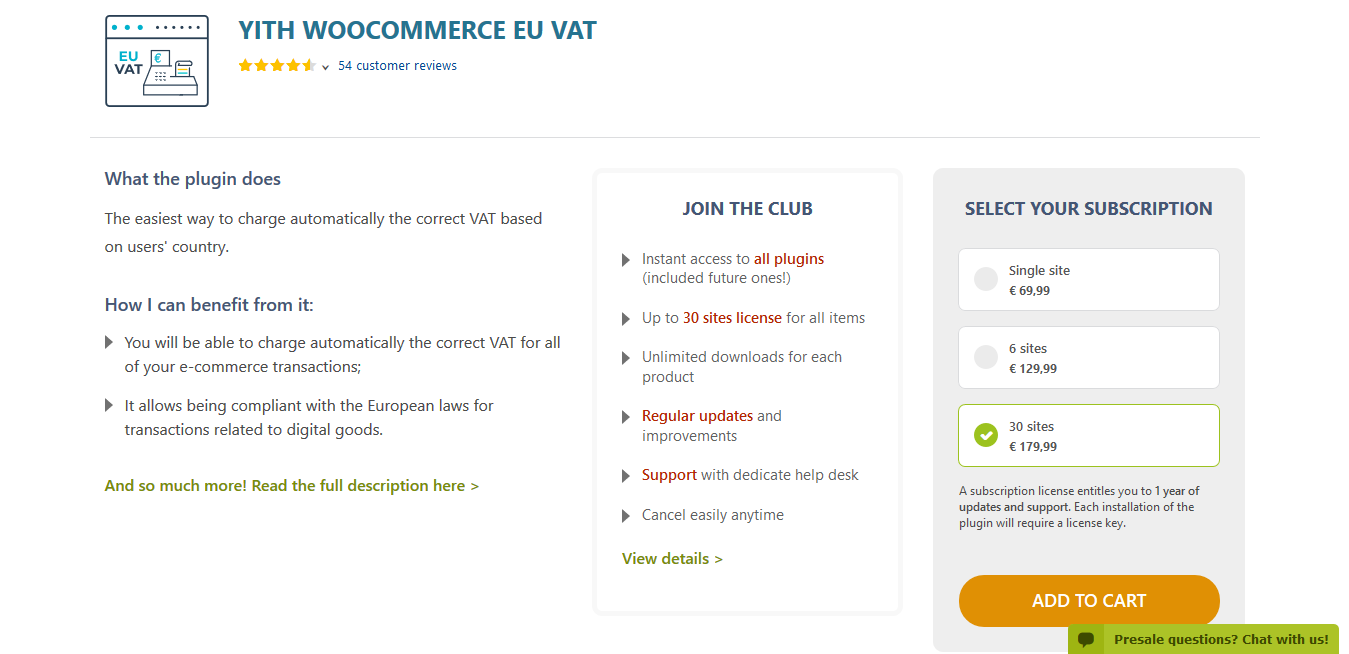 YITH WooCommerce EU VAT Premium 1.4.13