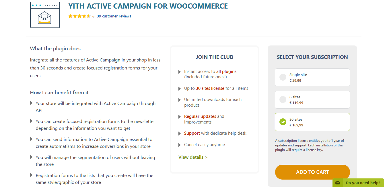 YITH Active Campaign for WooCommerce Premium 2.0.1