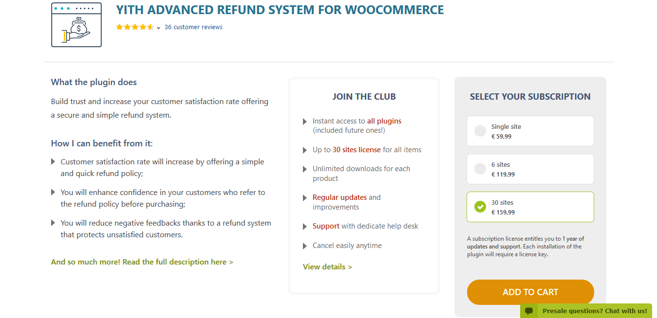 YITH Advanced Refund System for WooCommerce Premium 1.2.6
