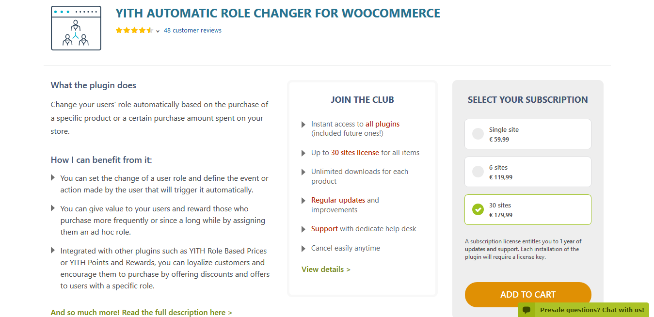 YITH Automatic Role Changer for WooCommerce Premium 1.5.1