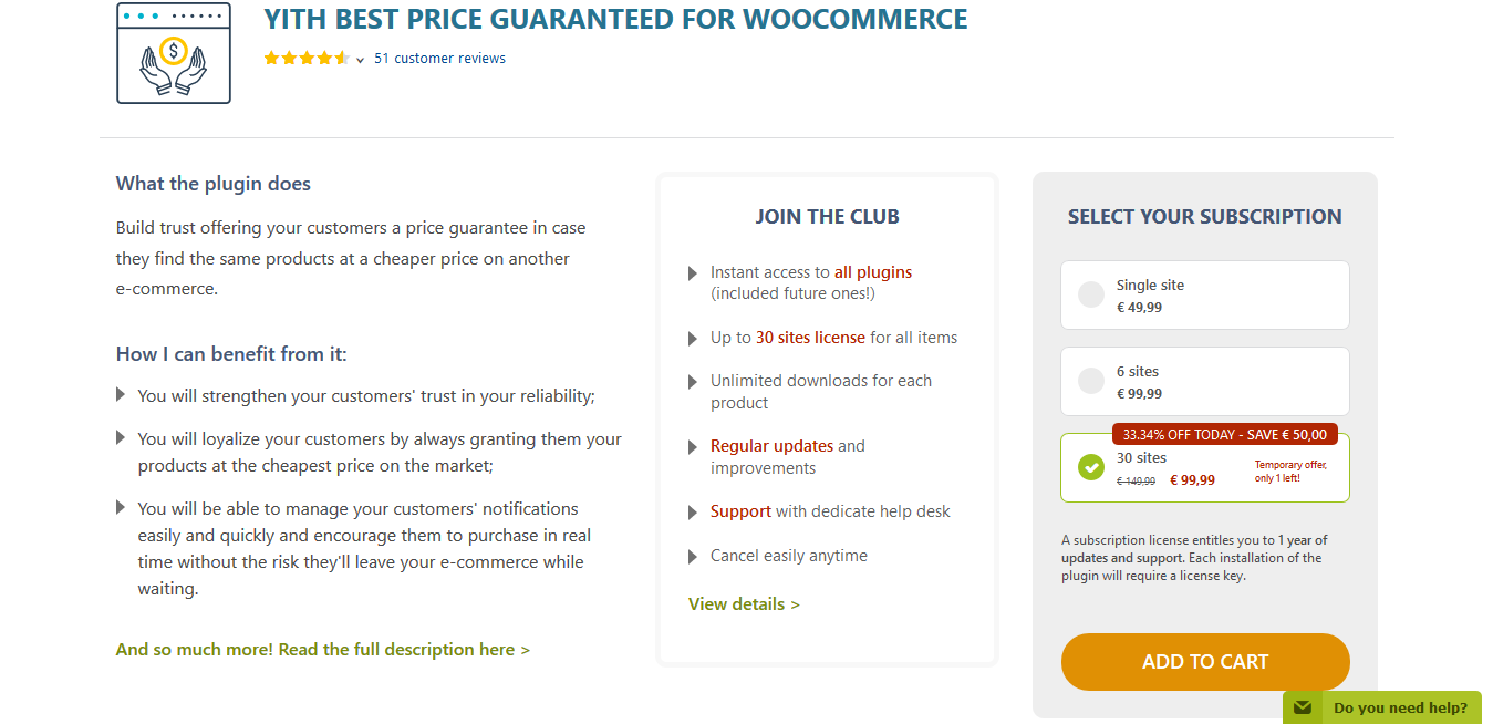 YITH Best Price Guaranteed for WooCommerce Premium 1.2.20
