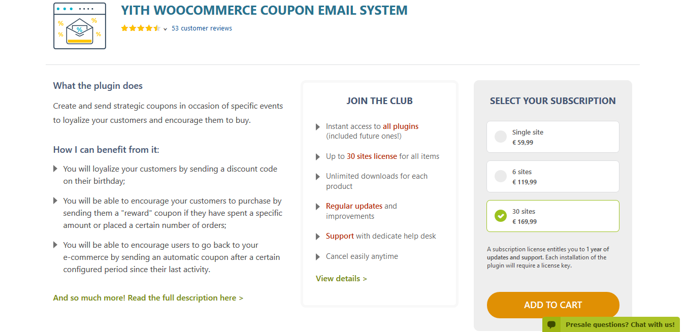YITH WooCommerce Coupon Email System Premium 1.5.3