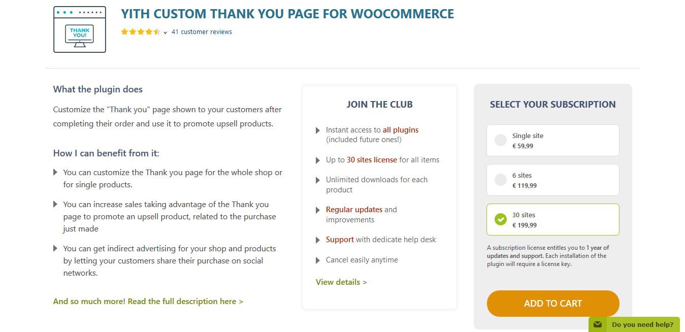 YITH Custom Thank You Page for WooCommerce Premium 1.3.1