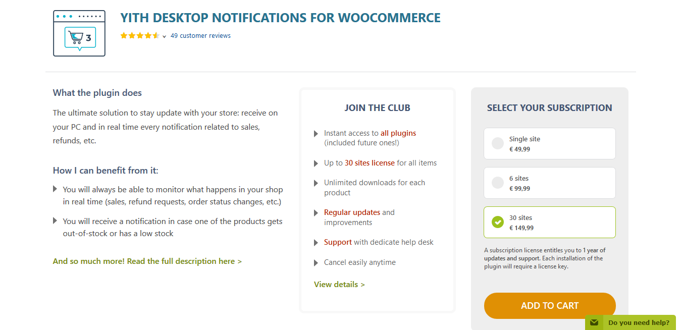 YITH Desktop Notifications for WooCommerce Premium 1.2.15