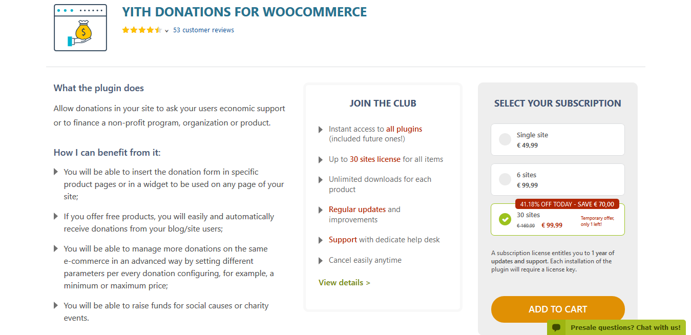 YITH Donations for WooCommerce Premium 1.1.21