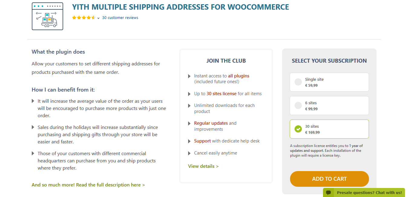 YITH Multiple Shipping Addresses for WooCommerce Premium 1.1.2