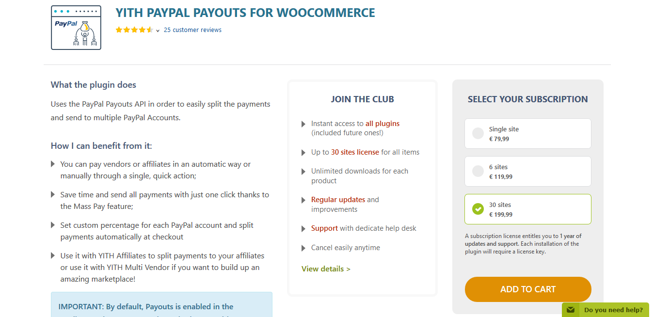 YITH PayPal Payouts for WooCommerce 1.0.12
