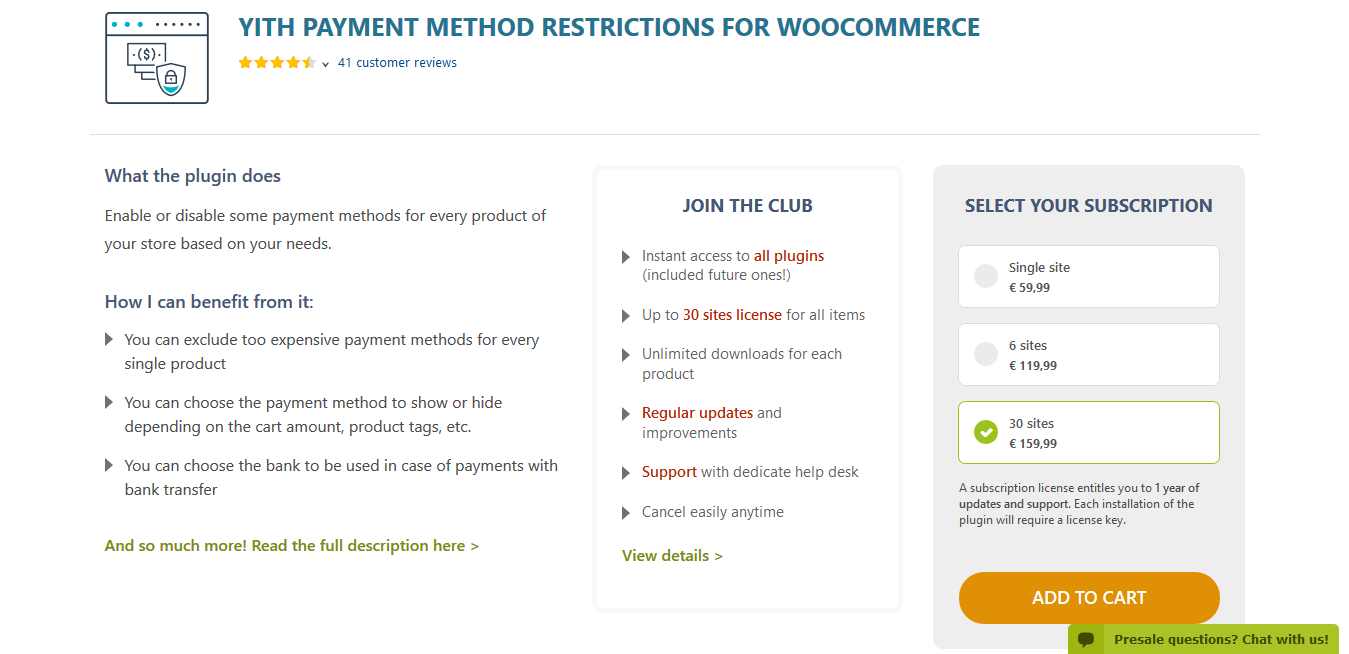 YITH Payment Method Restrictions for WooCommerce Premium 1.1.19