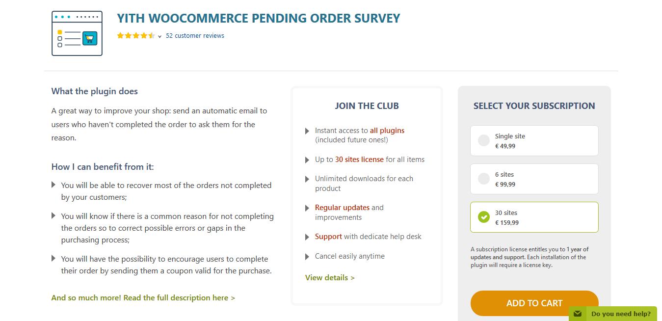 YITH WooCommerce Pending Order Survey Premium 1.0.25
