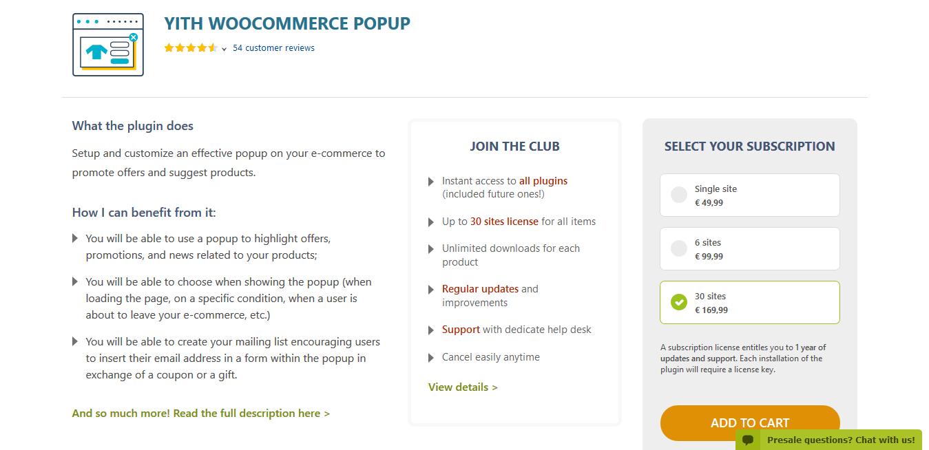 YITH WooCommerce Popup Premium 1.5.2