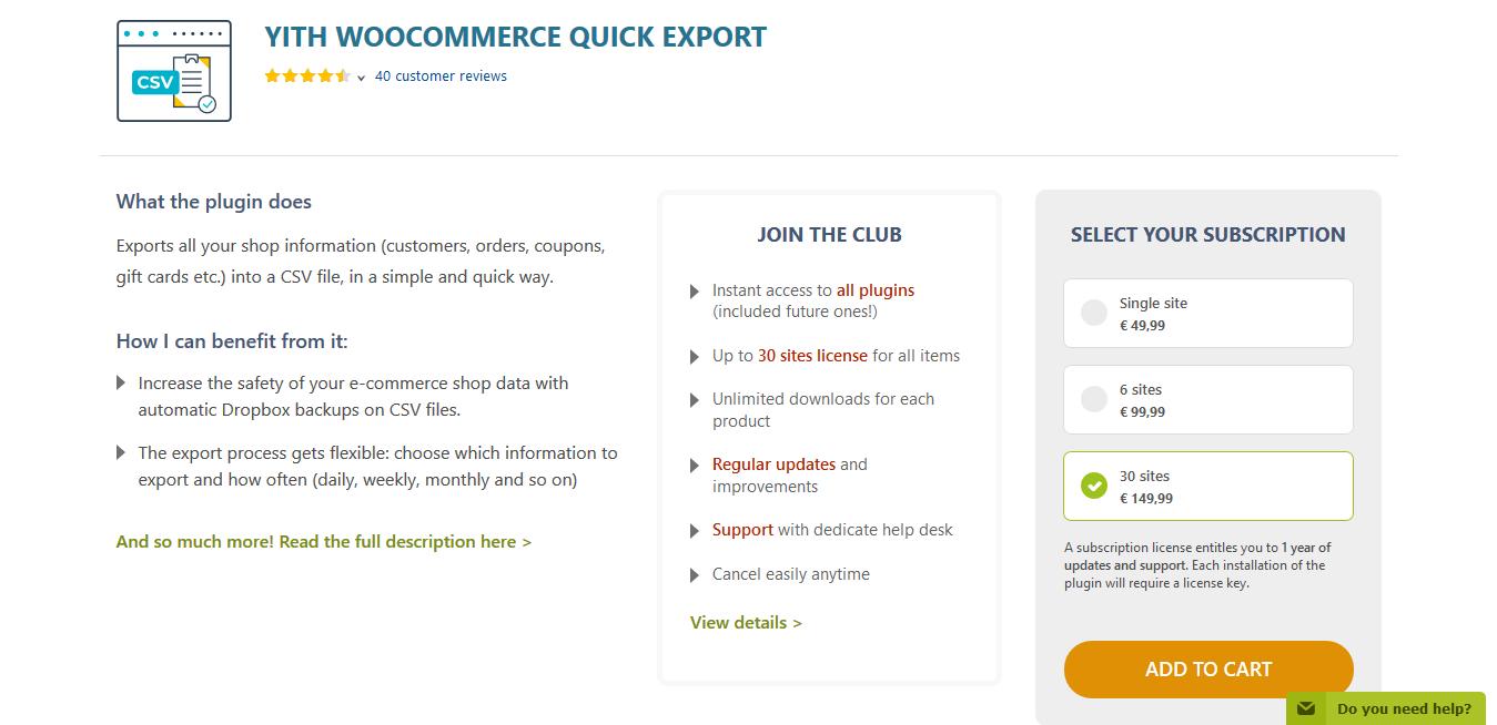 YITH WooCommerce Quick Export Premium 1.3.5