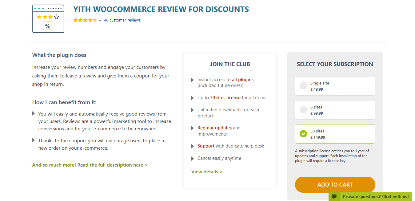 YITH WooCommerce Review for Discounts Premium 1.4.3