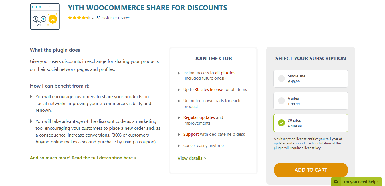 YITH WooCommerce Share for Discounts Premium 1.6.9