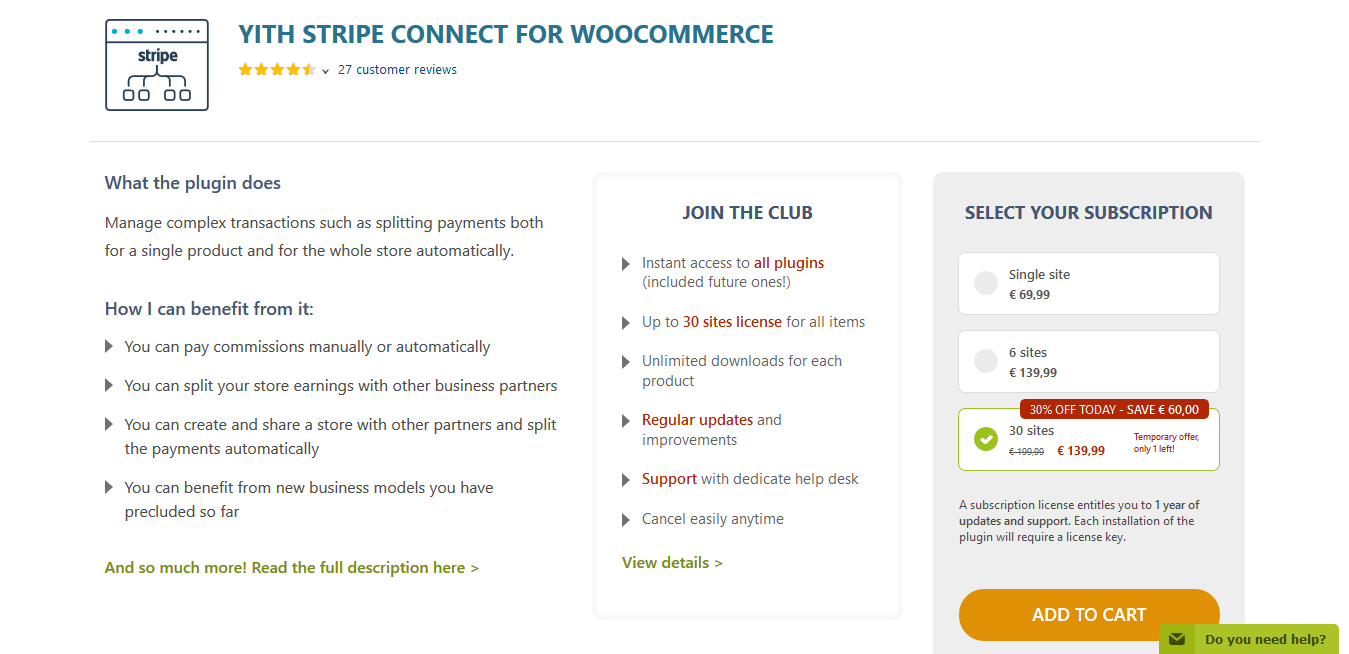 YITH Stripe Connect for WooCommerce Premium 2.1.11