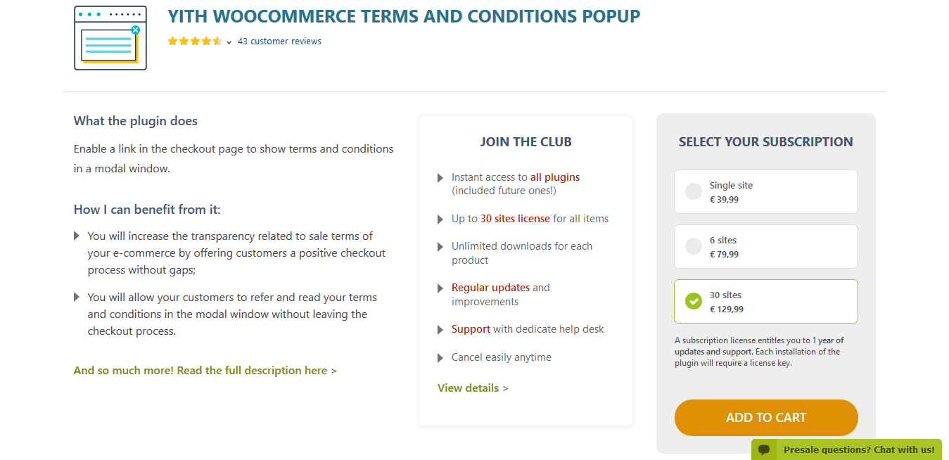 YITH WooCommerce Terms and Conditions Popup Premium 1.3.1