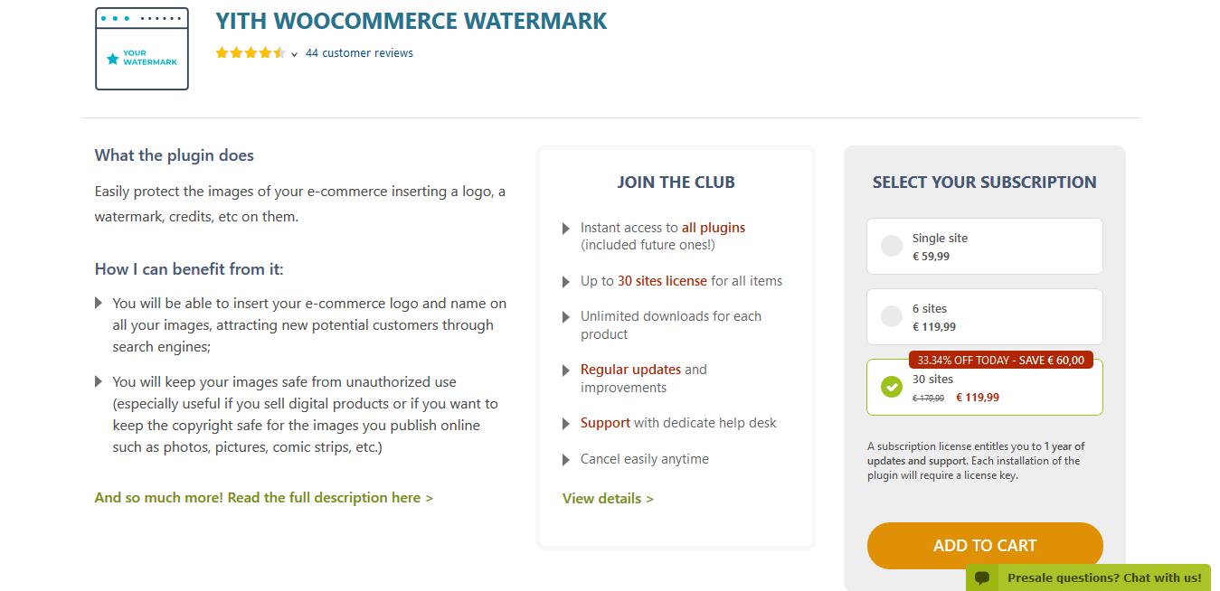 YITH WooCommerce Watermark Premium 1.2.15