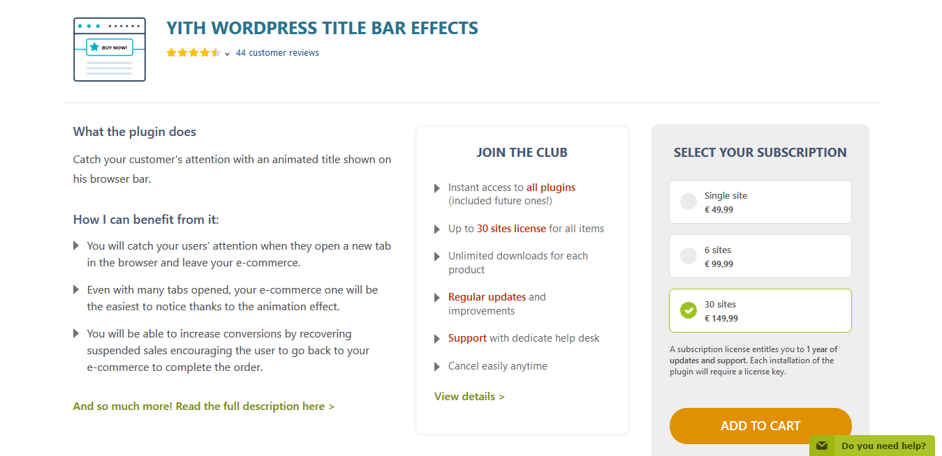 YITH WordPress Title Bar Effects Premium 1.1.11
