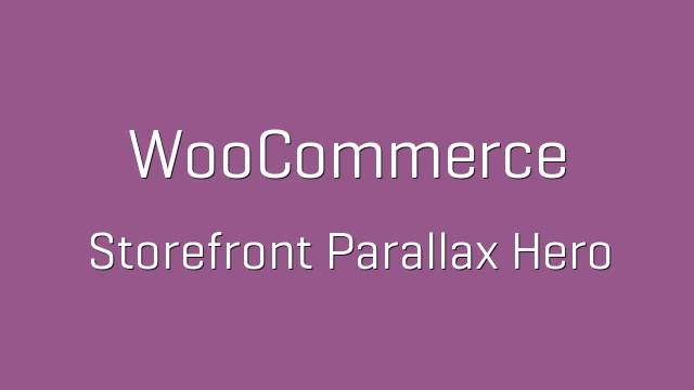 Storefront Parallax Hero 1.5.7 – WooCommerce