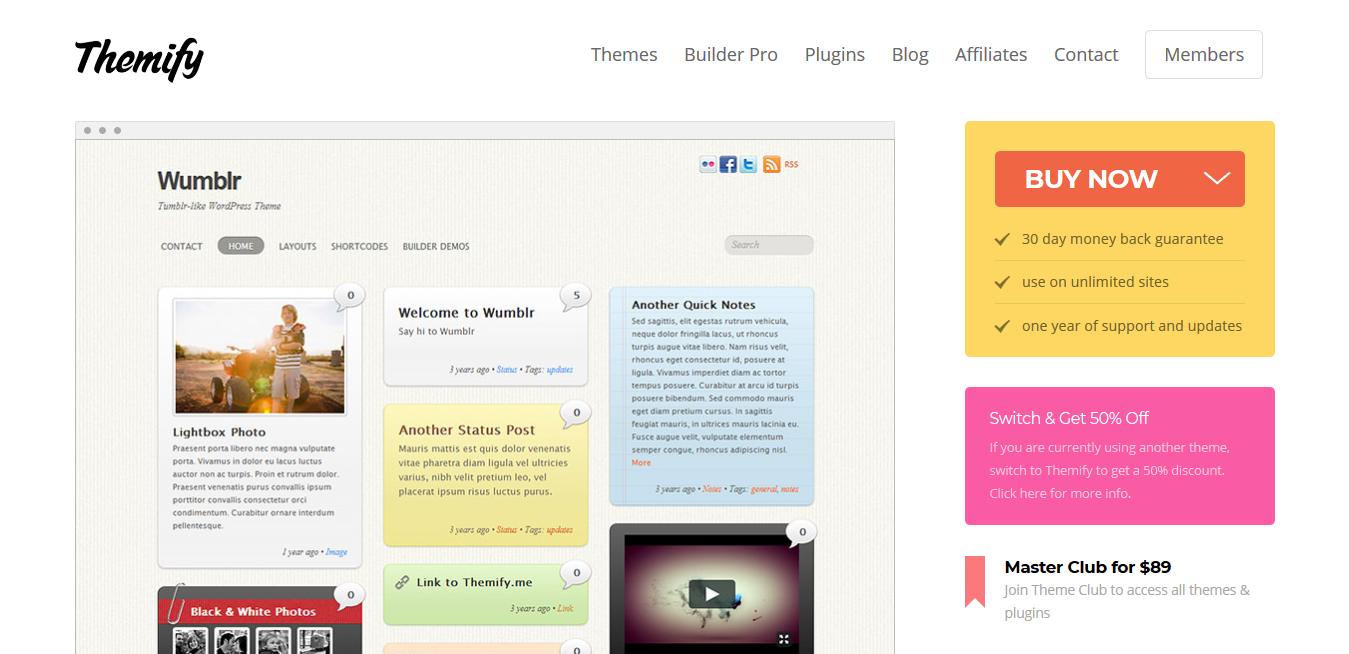 Themify Wumblr WordPress Theme 5.3.7