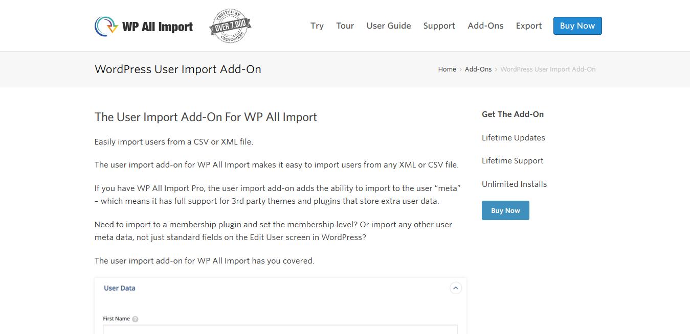 WP All Import Pro WordPress User Import Add-On 1.1.2