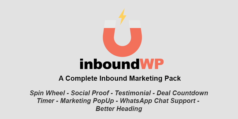 InboundWP Pro 1.0.1 – A Complete Inbound Marketing Plugin
