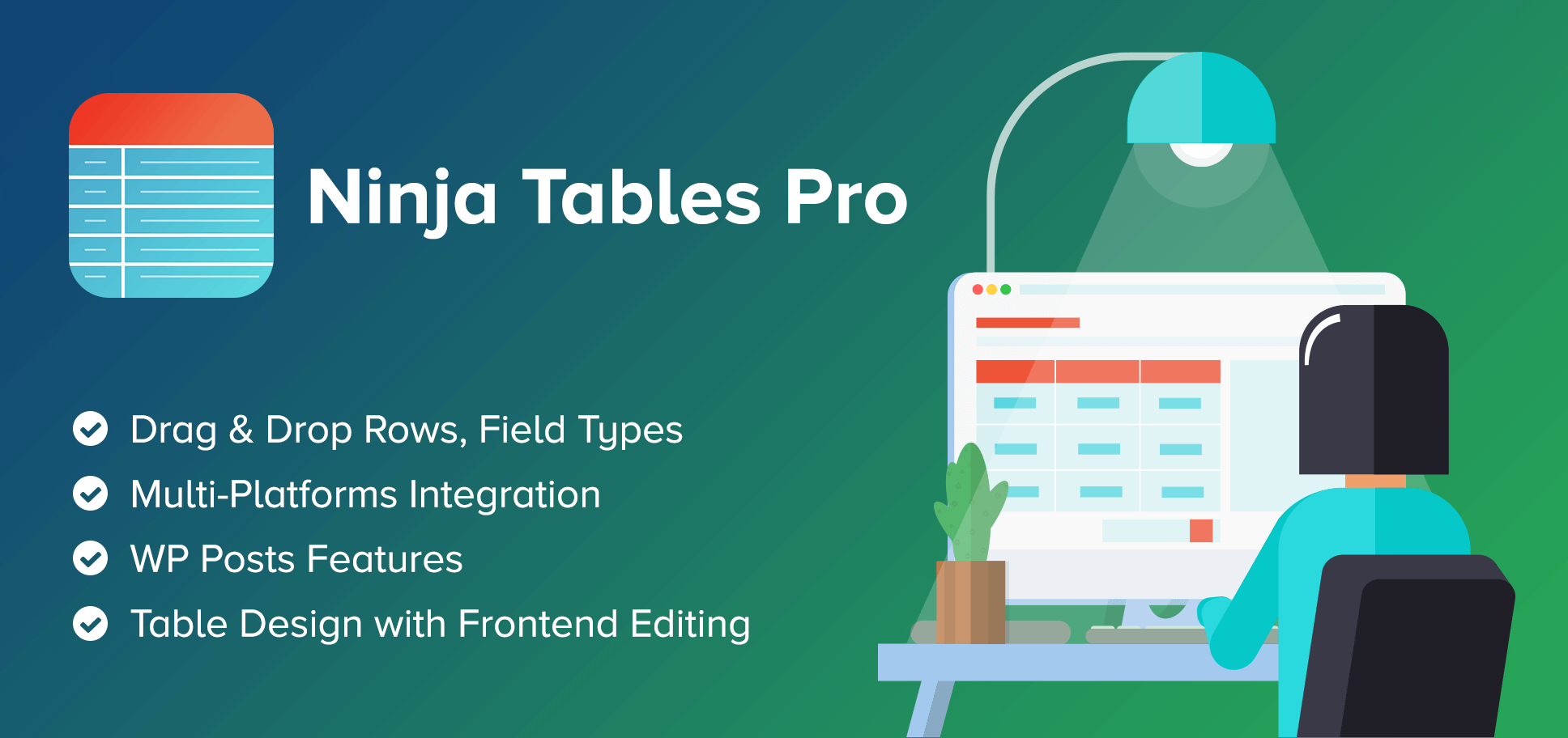 Ninja Tables Pro 4.1.7 – The Fastest and Most Diverse WP DataTables Plugin