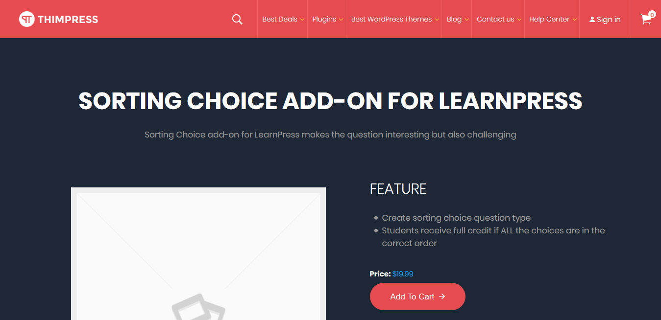 LearnPress – Sorting Choice Question 3.0.2