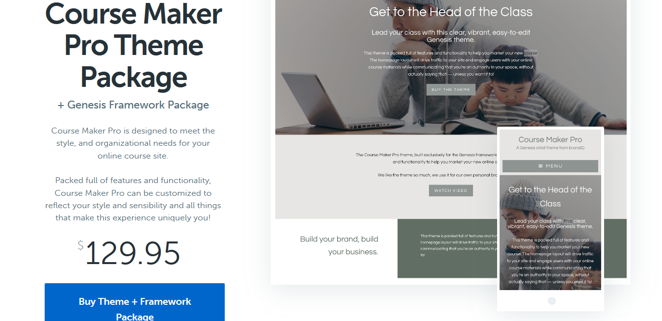 StudioPress Course Maker Pro Theme Package 2.0.3