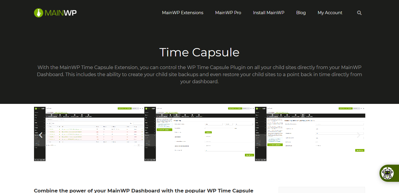 Time Capsule 4.0.1.1 – MainWP WordPress Management