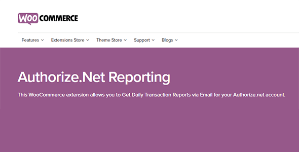 WooCommerce Authorize.Net Reporting 1.11.0
