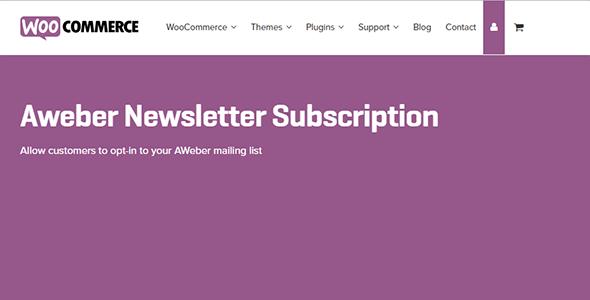 WooCommerce AWeber Newsletter Subscription 3.3.3