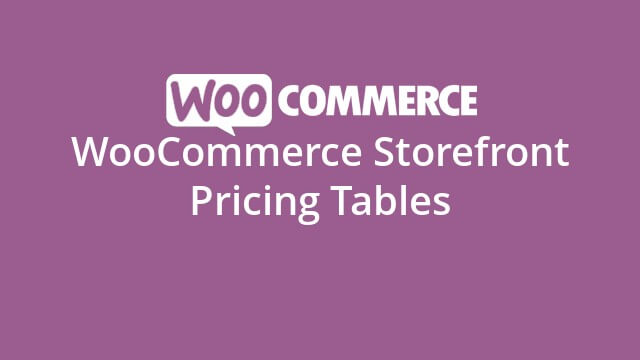 Storefront Pricing Tables 1.1.0 – WooCommerce