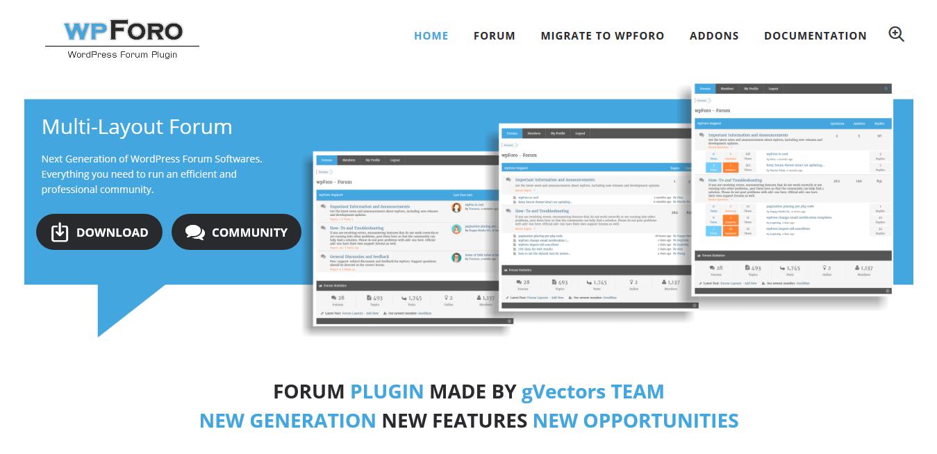 wpForo 1.9.9 (+ All 6 Addons)  – WordPress Forum Plugin
