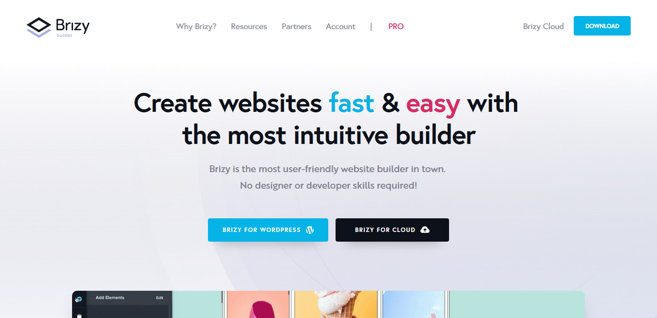 Brizy Pro 2.2.7 – Creating Websites is Now Fast Easy