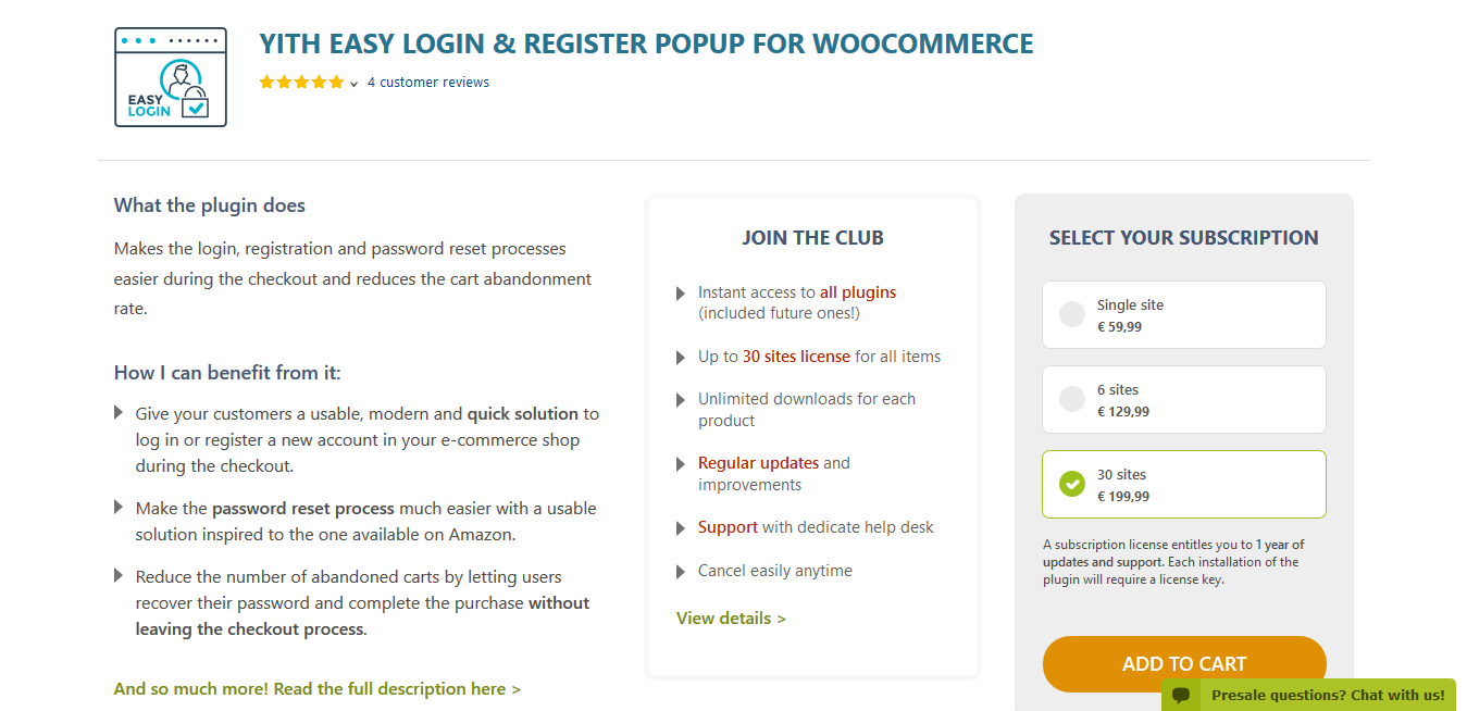 YITH Easy Login & Register Popup For WooCommerce 1.6.1