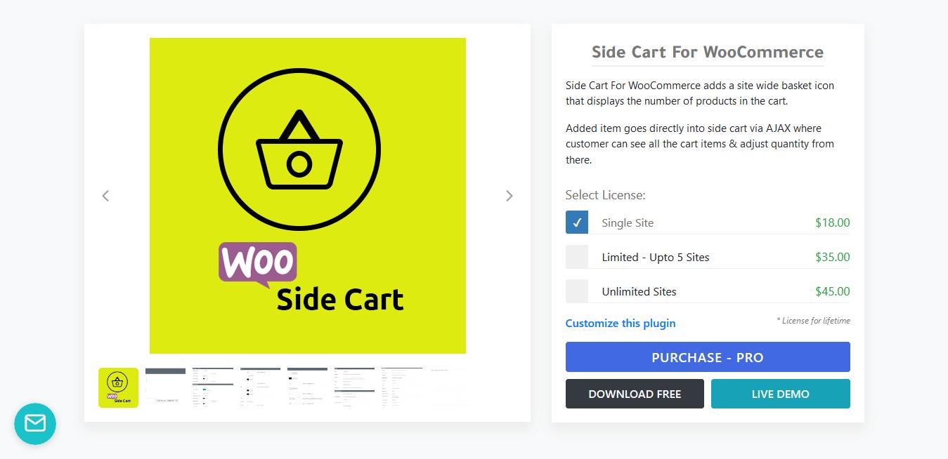 XootiX Side Cart For WooCommerce 3.1