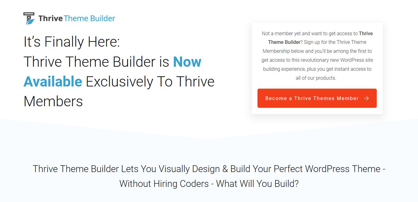 Thrive Theme Builder 2.3.1 + Shapeshift – The Best Visual Theme Builder for WordPress
