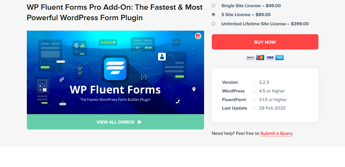 WP Fluent Forms Pro Add-On 4.2.0: The Most Powerful WordPress Form Plugin