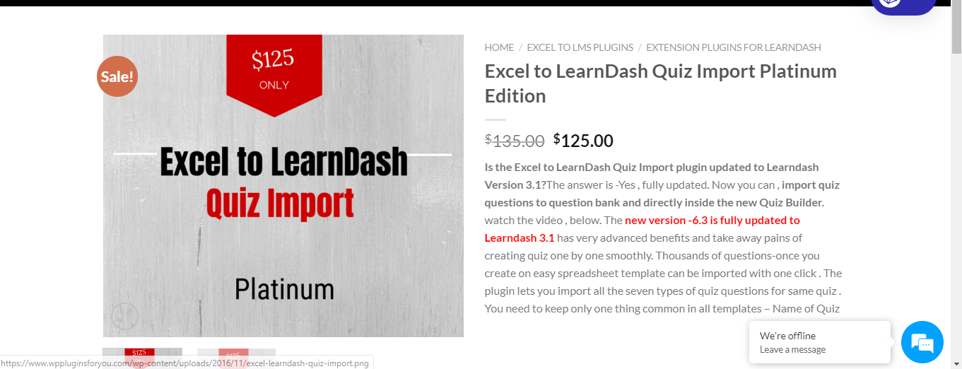WordPress Excel to LearnDash Plugin – Platinum Edition 4.0