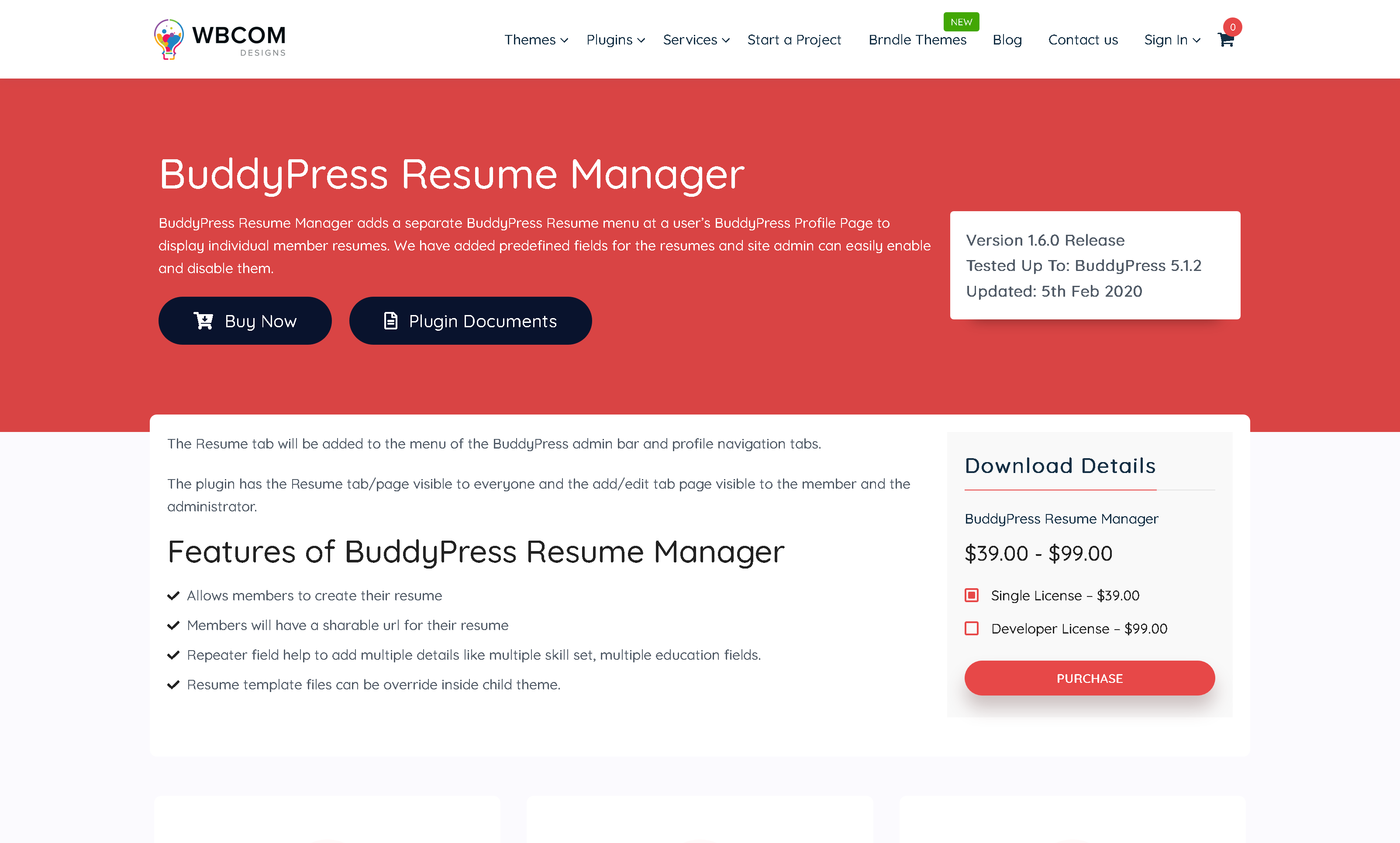 BuddyPress Resume Manager 1.4.0 – Wbcom Designs WordPress Plugin