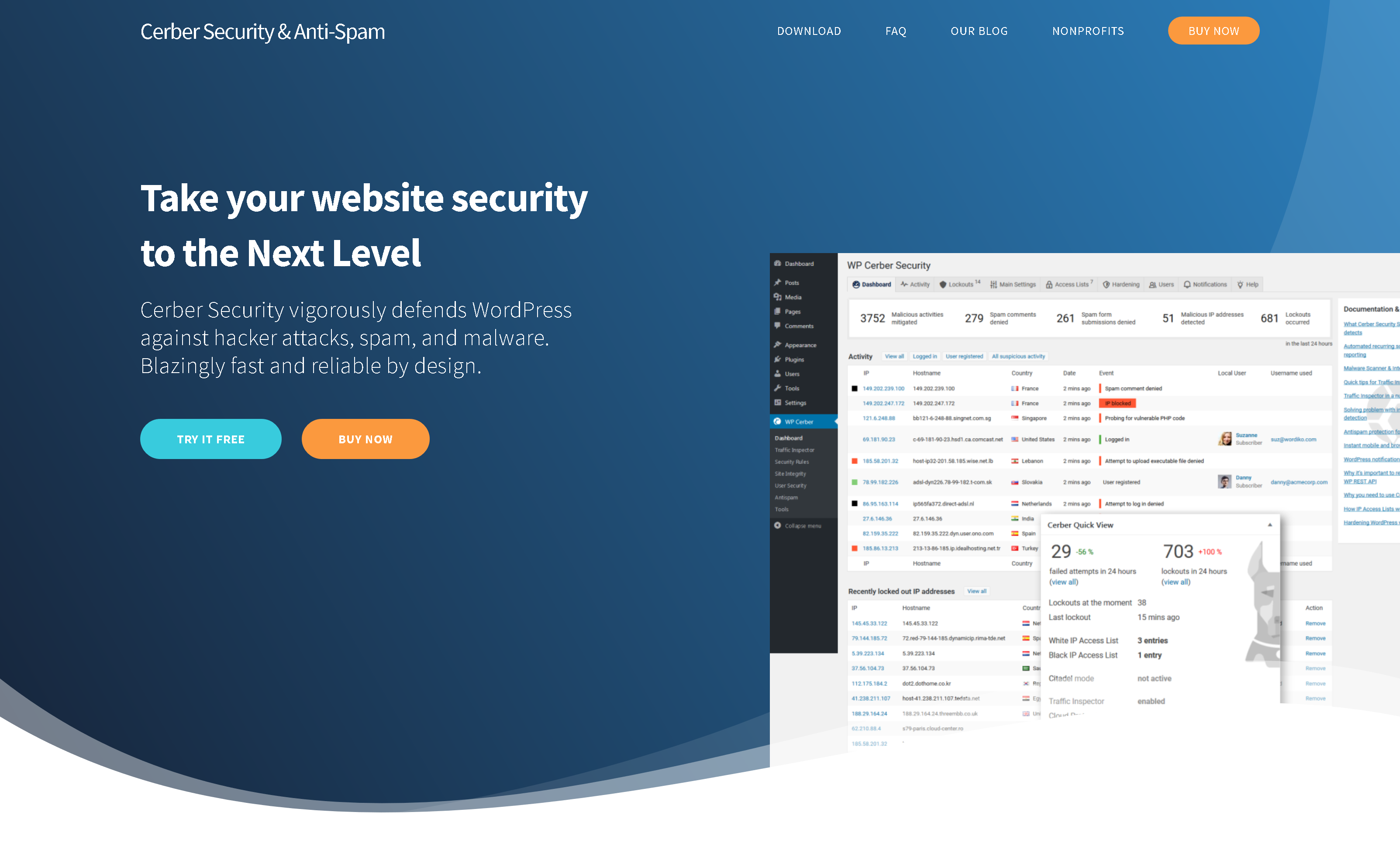 WP Cerber Security Pro 8.6.8 – Firewall, Anti-Spam Protection, and Malware Removal Plugin