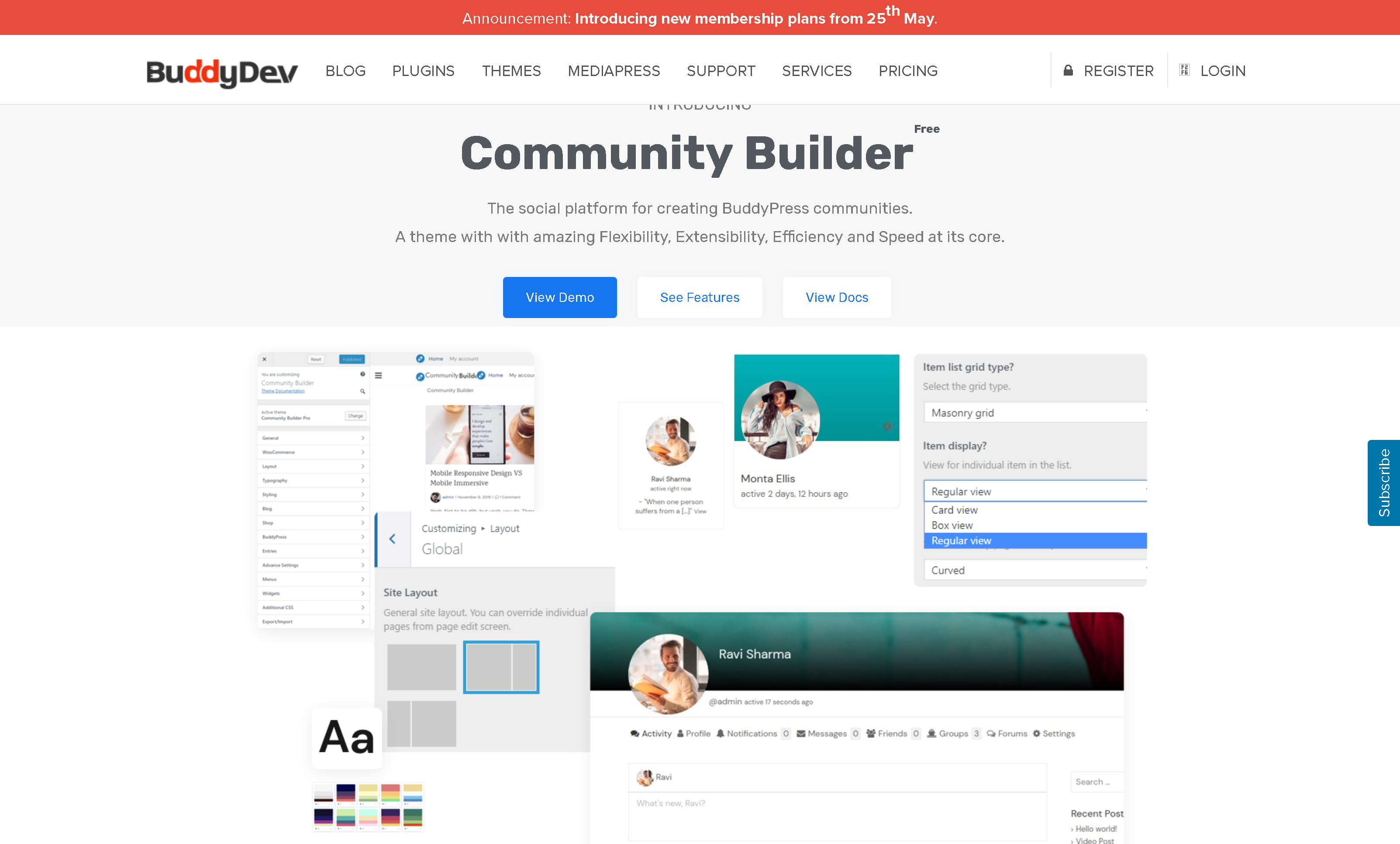 BuddyDev Community Builder Pro 2.1.3 – Most flexible BuddyPress Premium theme Community Builder