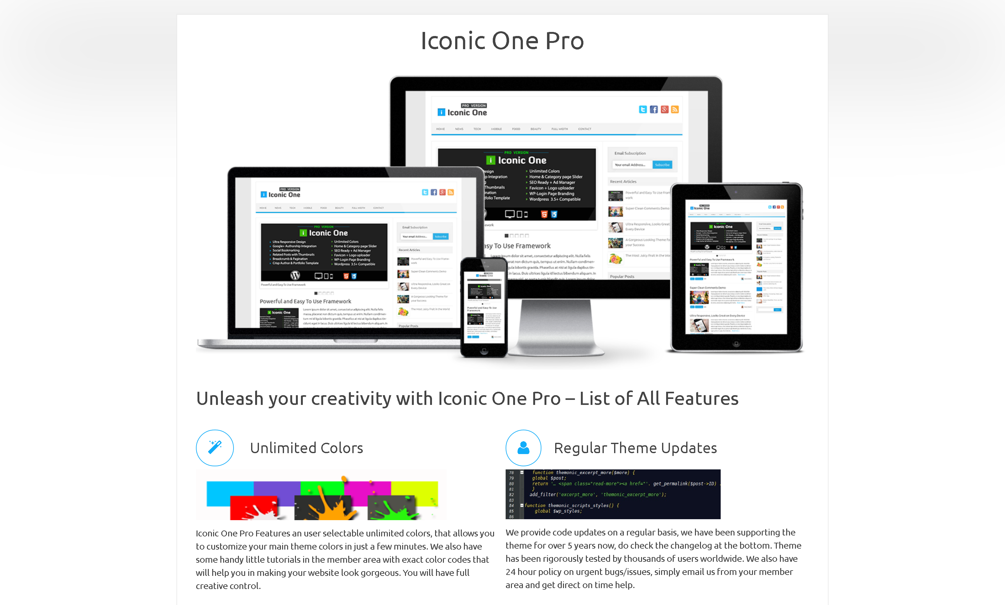Iconic One Pro 2.9.9.6 – Premium WordPress Blog/Magazine Theme