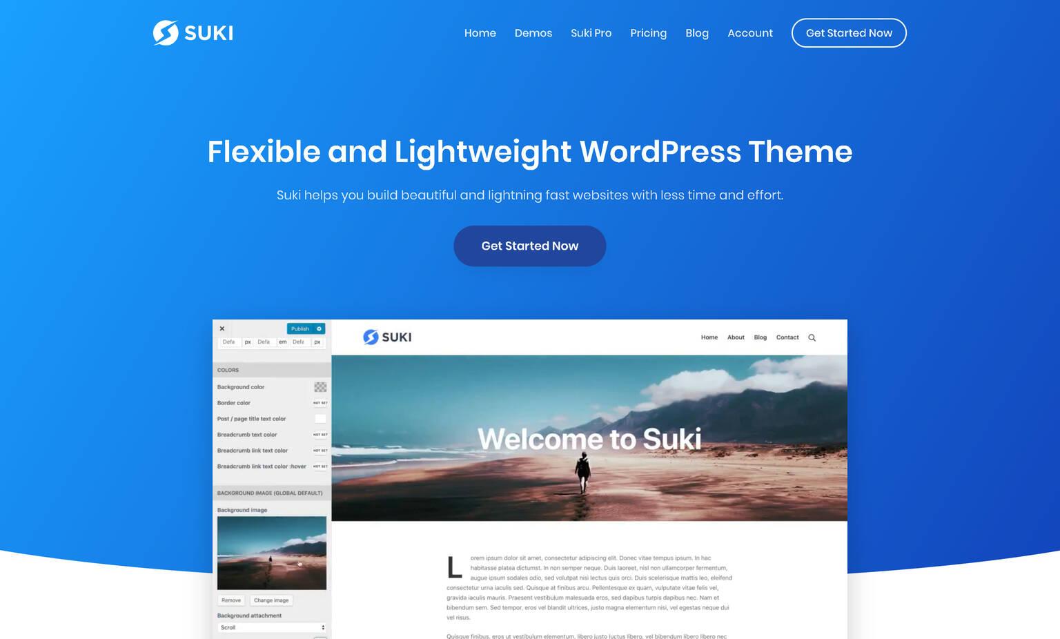 Suki Pro 1.2.13/1.1.6 + Plugins & Demos  – Flexible and Lightweight WordPress Theme