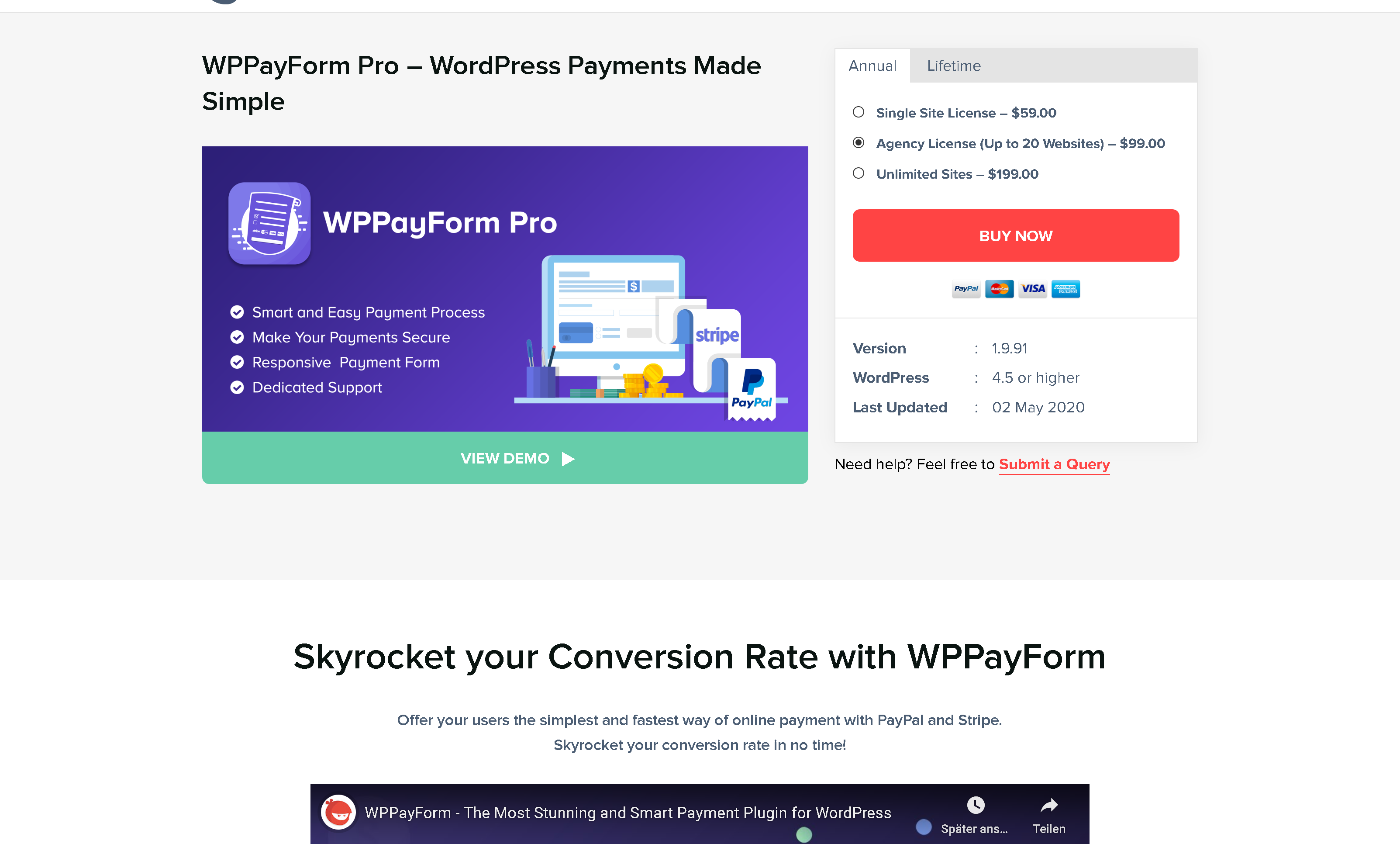 WP Manage Ninja WPPayForm Pro 1.9.91 – WordPress Payments Made Simple