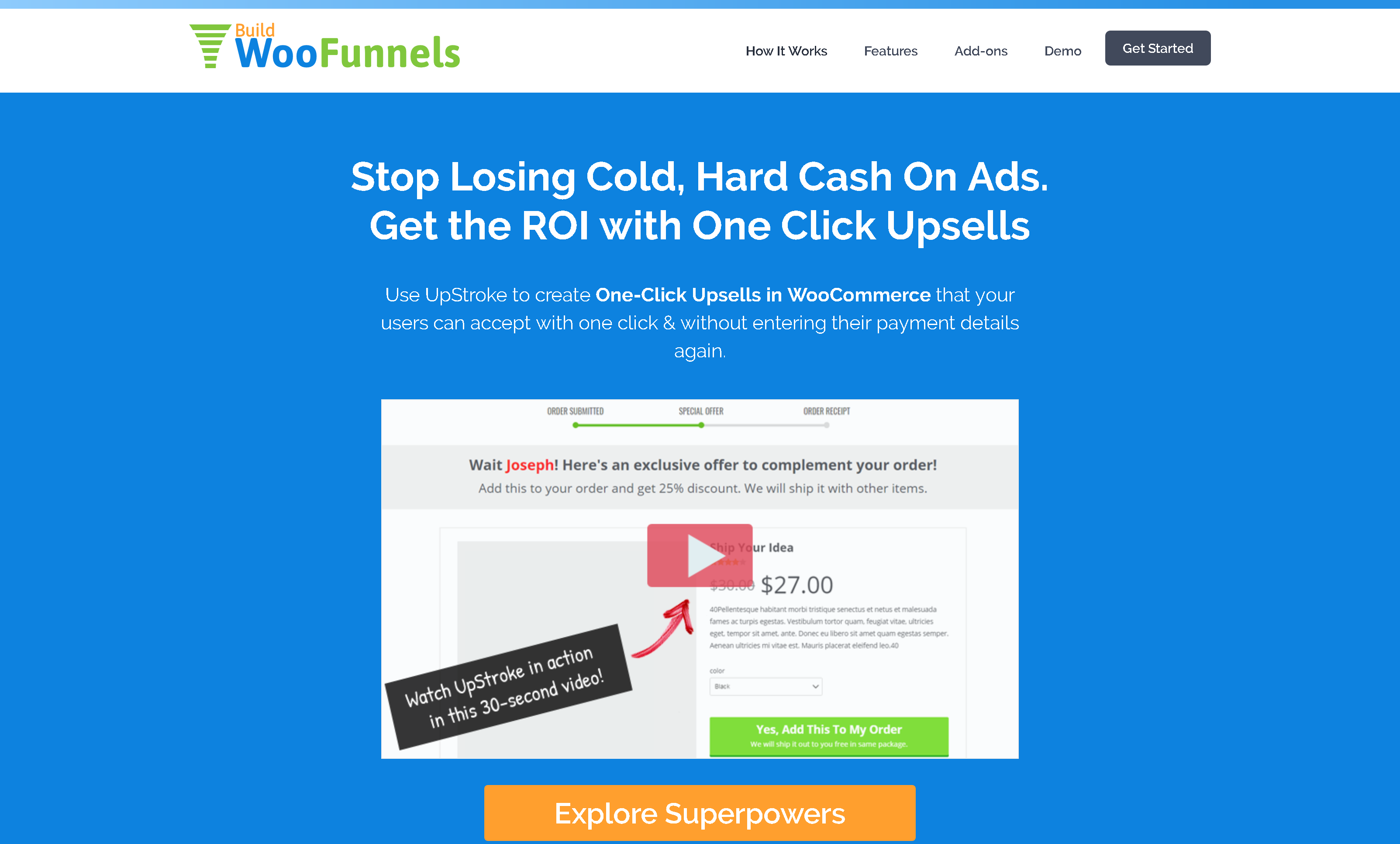 BuildWooFunnels UpStroke 2.1.7 (+ All 4 Addons): WooCommerce One Click Upsell